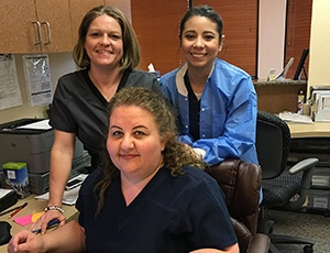 Three member of the Canyon Creek Family Dentistry team
